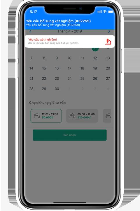 Gọi điện thoại miễn phí qua ứng dụng và chia sẻ hình ảnh hoặc kết quả khám/xét nghiệm với bác sĩ trong cuộc gọi